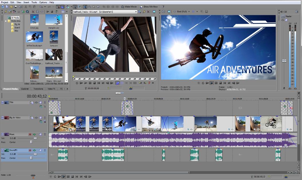 Sony Vegas Movie Studio Best Video Editing Software 2017