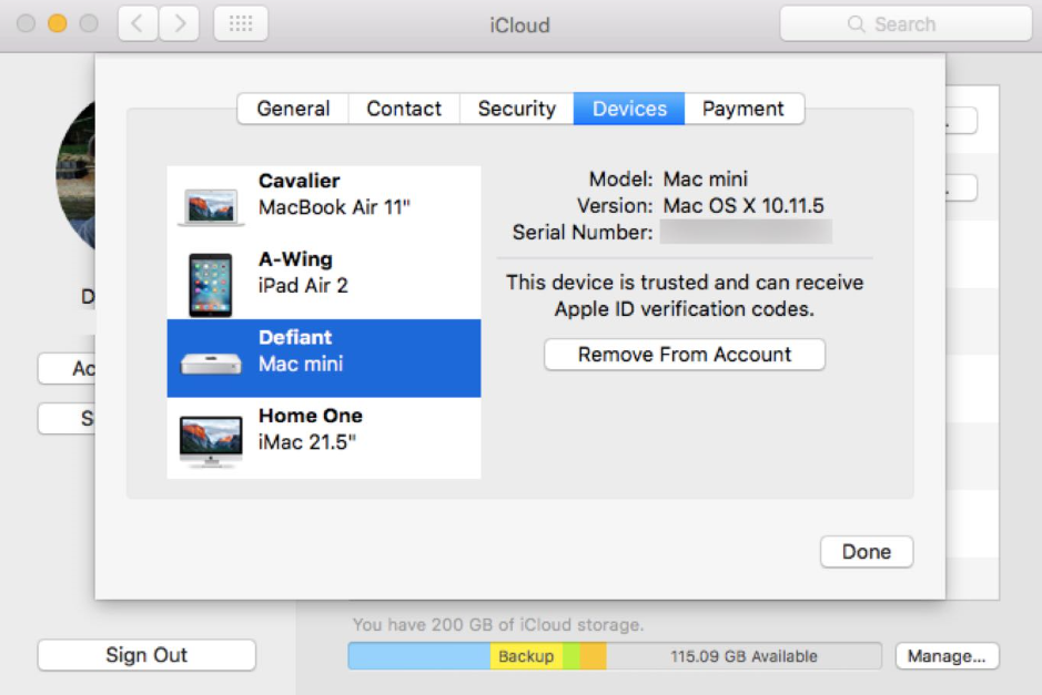 Two-factor authentication for Apple ID