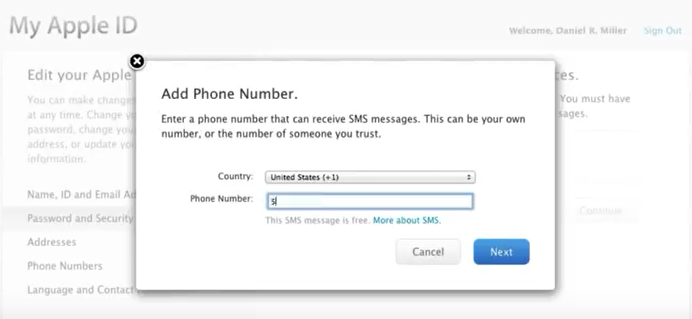 two step mobile number verification for apple id image