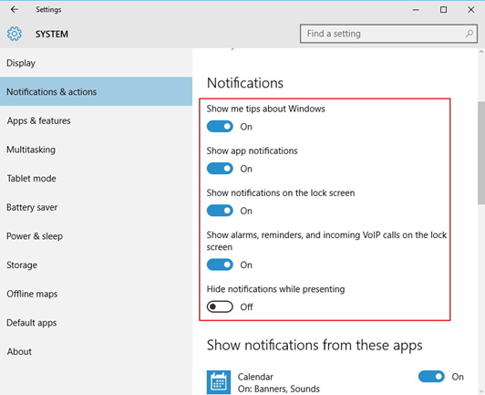 Banish Annoying Notifications Windows 10