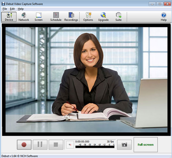 Debut Video Capture free webcam recorder software
