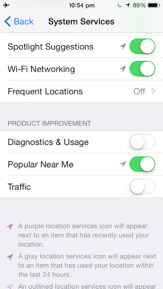 Disable your Wifi Networking Services