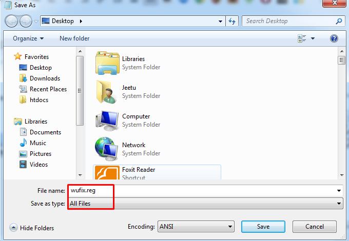 Editing Registry to fix Windows Update Error 0X80070057 image 1