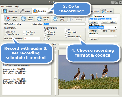 Free Screencast webcam recorder software