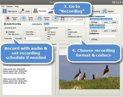 Free Screencast webcam recorder software