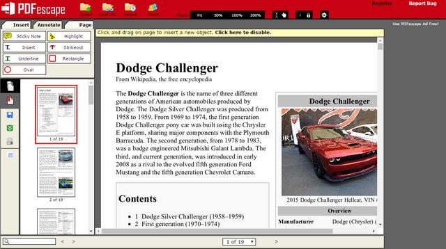 PDF Escape - PDF Editor Software Free