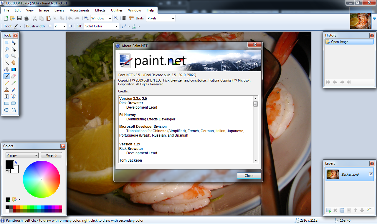 Paint.NET Free Photoshop Alternatives Software