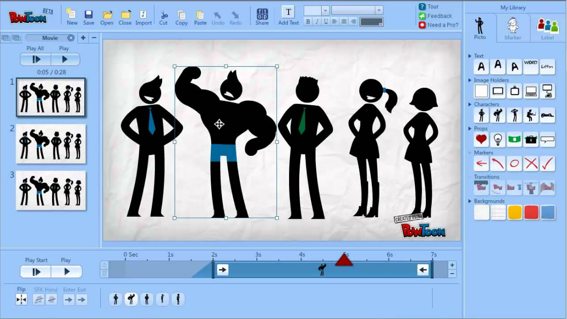 PowToon open source animation software