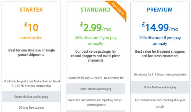 myUKmailbox plan and pricing