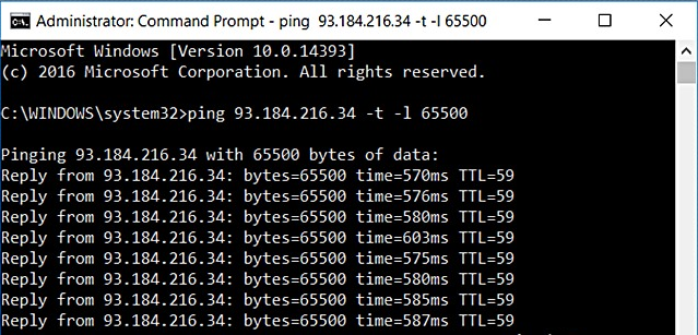 DDos Website Using Command Prompt