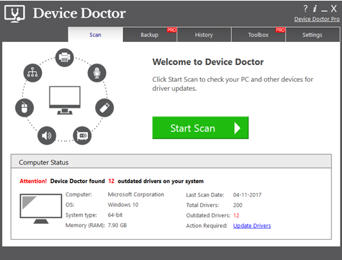 Device Doctor free driver update software