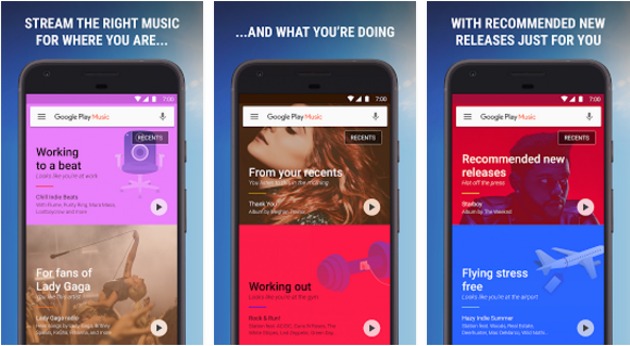 Google Play Music for free music downloader app