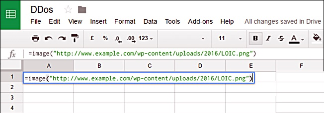 Use Google Spreadsheet to DDos an IP or Website