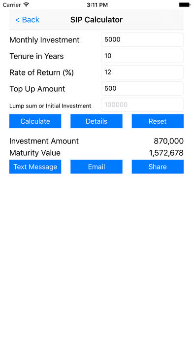 sip calculator ios app