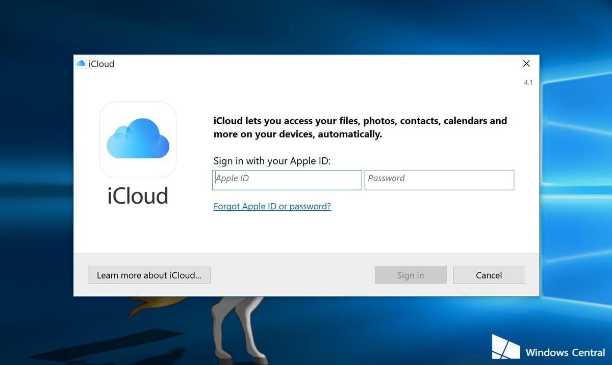 Setup iCloud on Windows 10