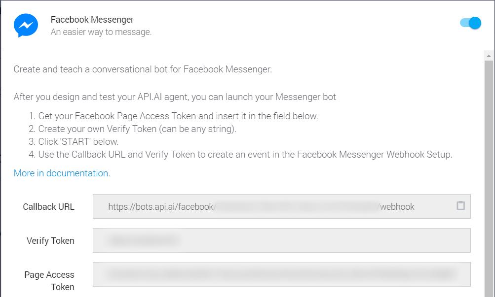 facebook messenger token access