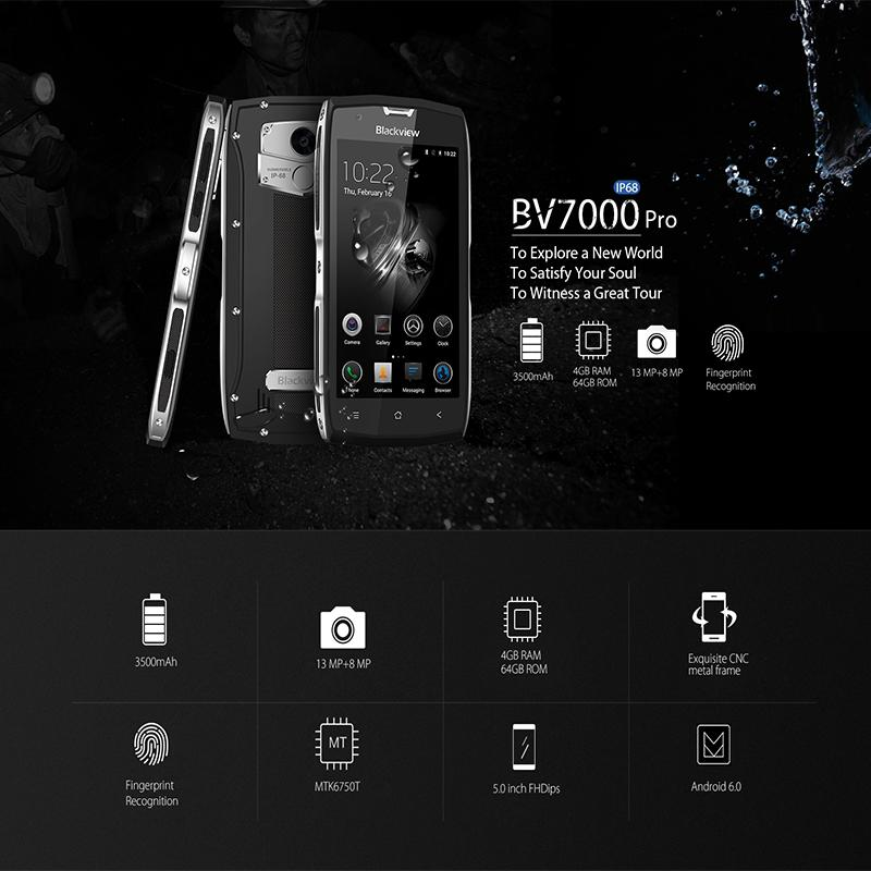 Blackview 7000 Pro rugged phone