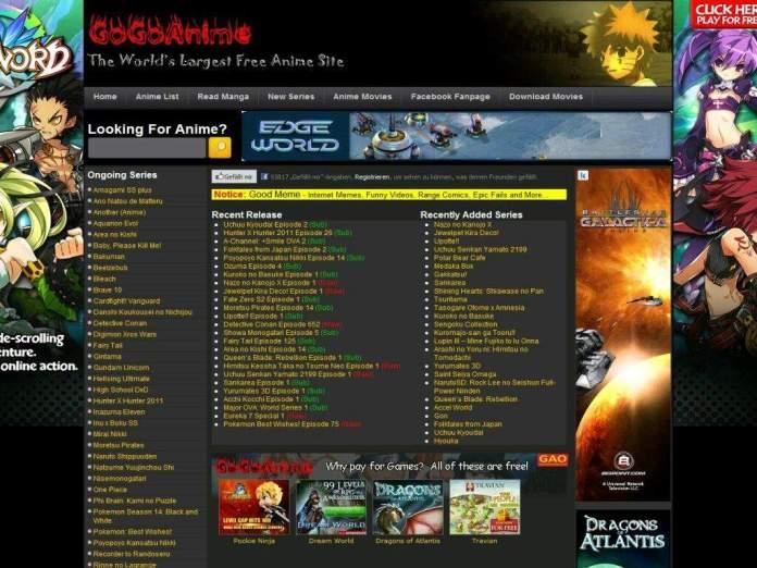 Gogoganime anime streaming website