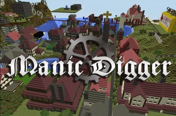Manic Digger game like minecraft