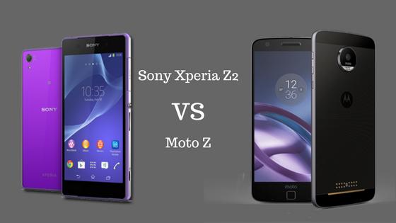 Sony Xperia Z2 vs. Moto Z