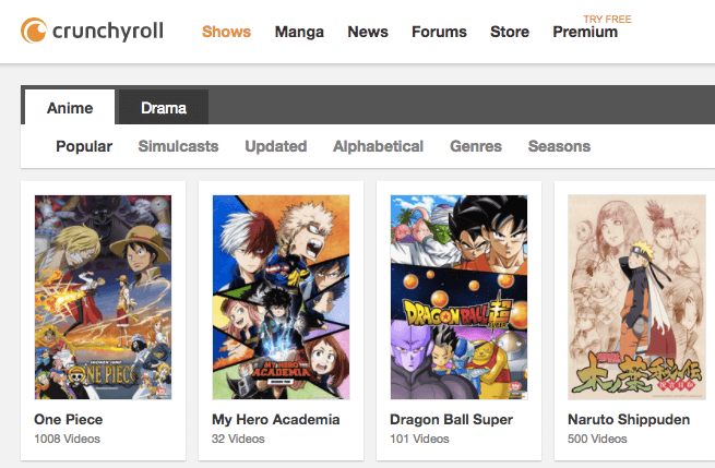 crunchy roll free anime streaming website