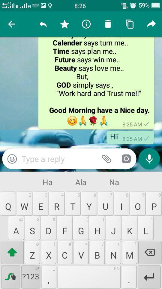 hold whatsapp message