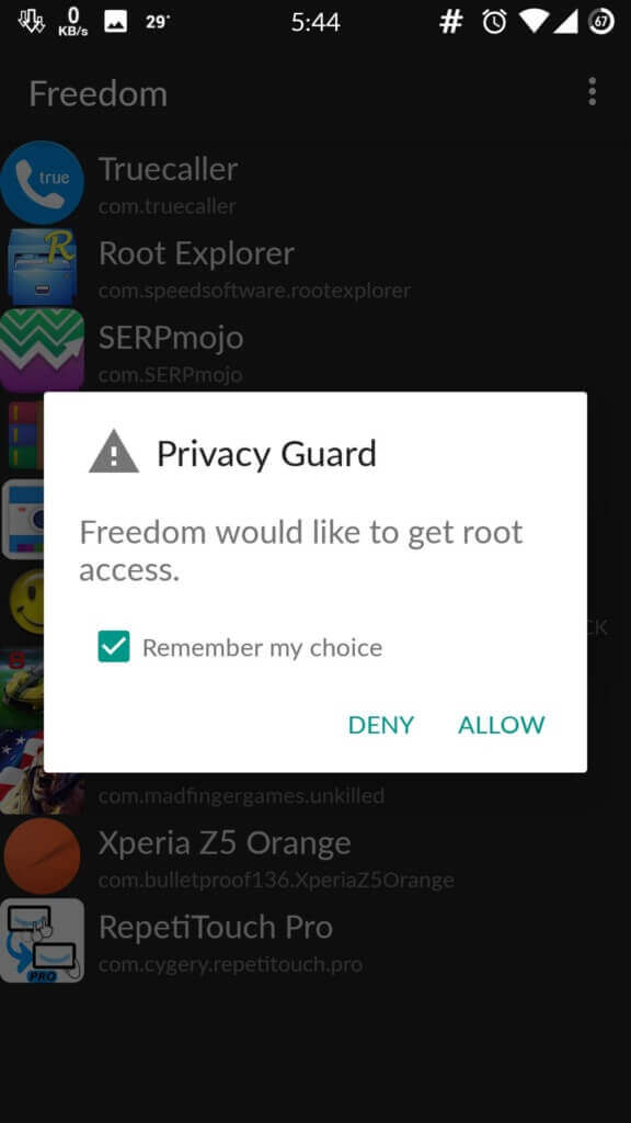 freedom app no root