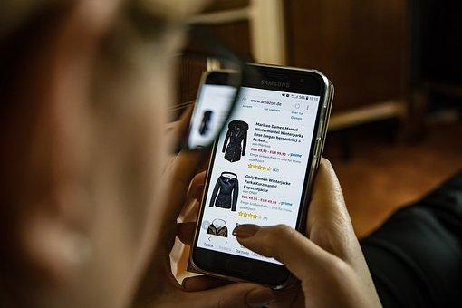 shopping on mobile