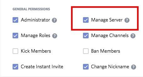 manage server