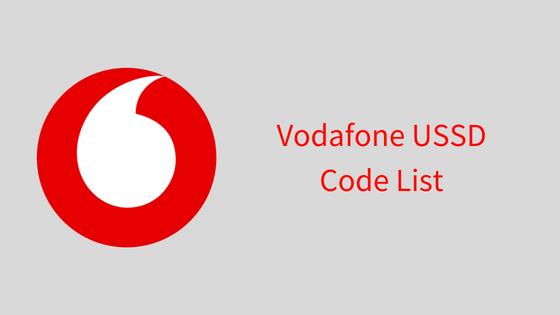 Vodafone USSD Code List