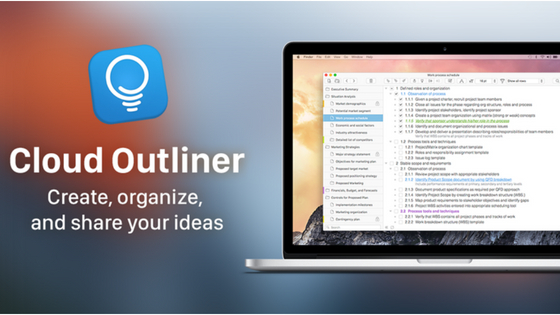 Cloud Outliner app