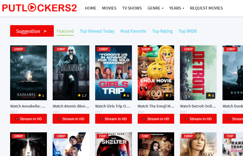 Putlockers2 Best Movie Streaming Sites