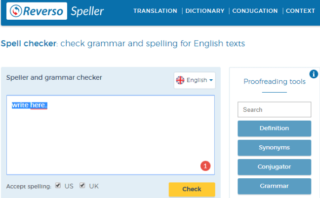 Reverso grammar checker software