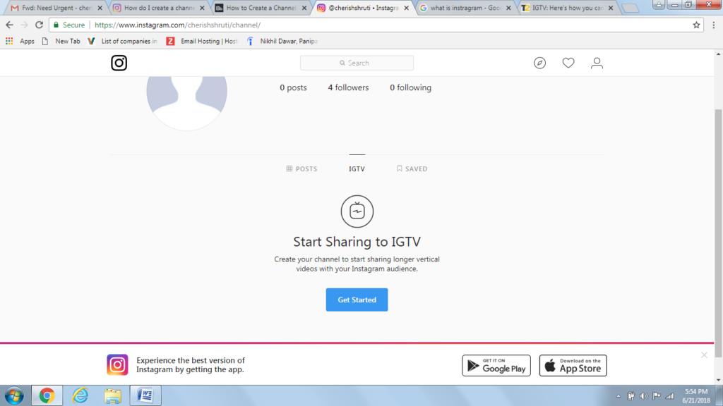 Start sharing on IGTV