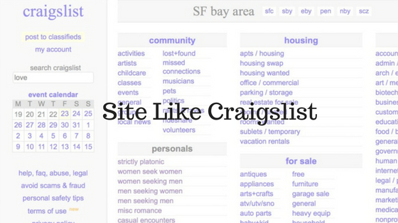 dating classifieds like craigslist Epage: epage is a very large online classifieds site that regularly hosts over 30,000 online classifieds at one time with a user base nearly the size of craigslist it deserves mention in sites like craigslist personals.