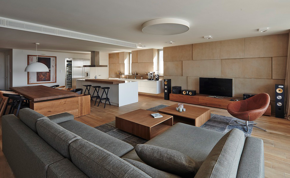 living room in high-tech style