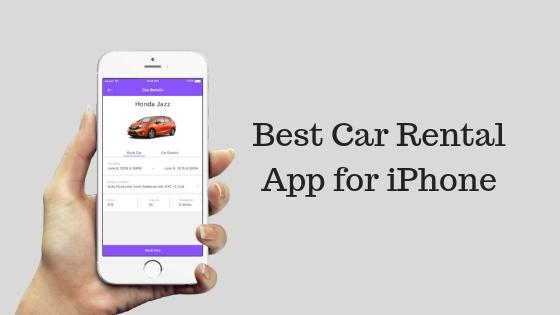 Car Rental App for iPhone