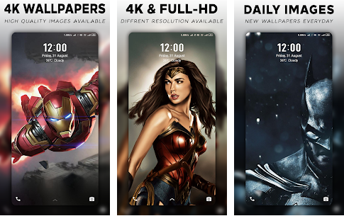 4K Superheroes Wallpapers - Live Wallpaper Changer