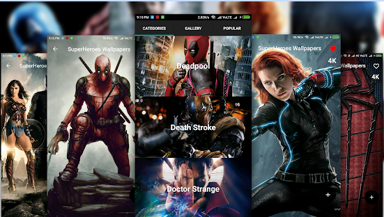 superhero wallpaper android app