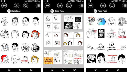 Rage Face Troll Face emoji apps for android