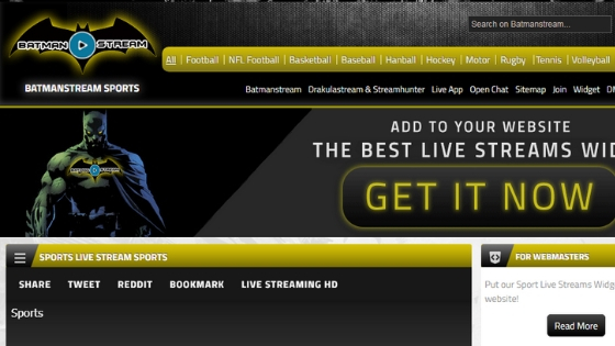 Batman Stream - Sports streaming sites