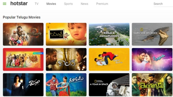 Hotstar - Site to watch telugu movie online