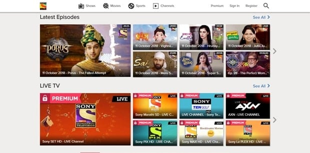 SonyLiv - Free Telugu Movie Streaming Site