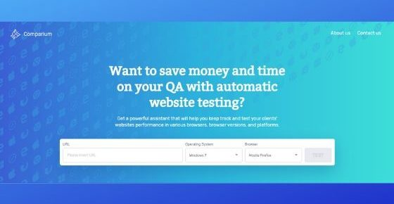 Comparium Automatic Website Testing Tool