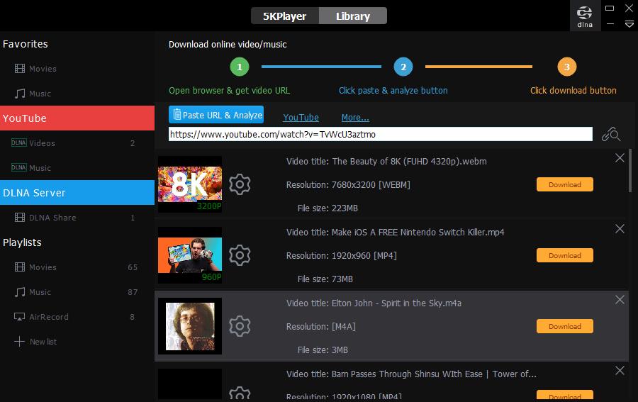 5kplayer download video online