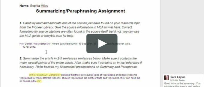 paraphrasing checking doc