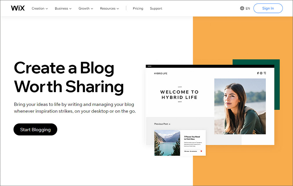 eCommerce and Blogging Functionalities