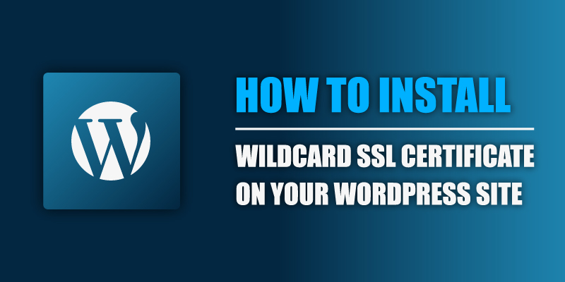 install a wildcard ssl certificate on your wordpress site